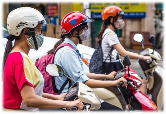 ベトナムマスク バイク社会