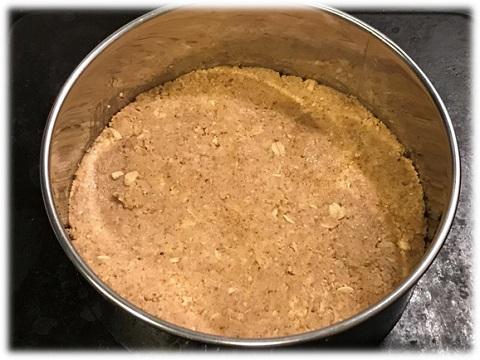 ケーキの土台づくり レアチーズ風ケーキレシピ