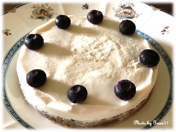 レアチーズ風ケーキ 完成♪