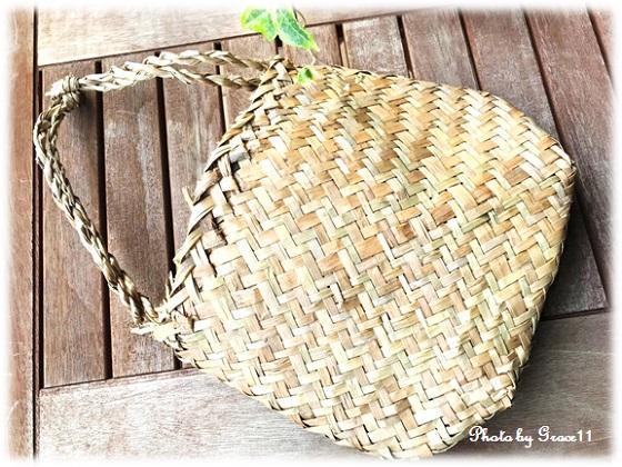 藁の手提げ袋 バッチャン焼