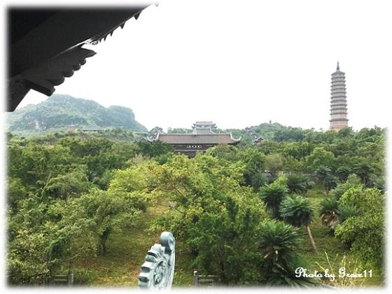 バイディン寺☆鐘楼からの眺め北方向