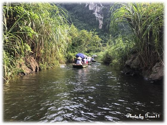 チャンアン景勝地☆手漕ぎボートで川下り