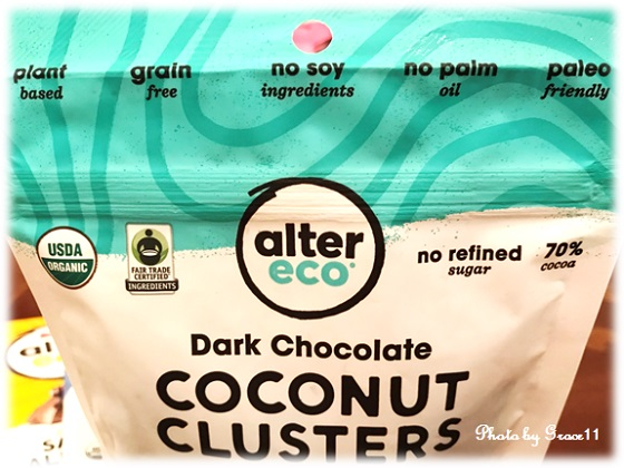 Alter Eco☆Organic Chocolate☆Dark Chocolate COCONUT CLUSTERS