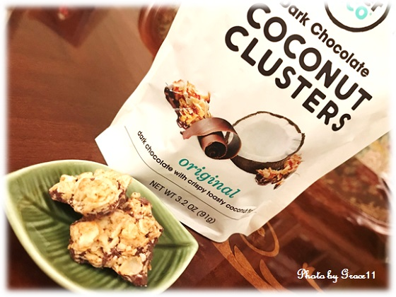 Alter Eco☆Organic Chocolate☆Dark Chocolate COCONUT CLUSTER 70% Cocoa