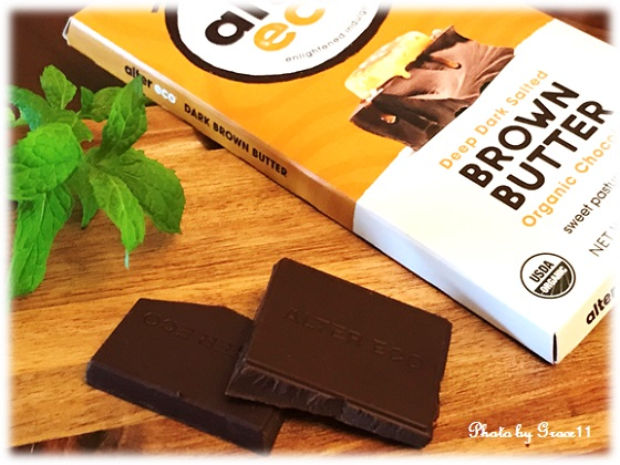 Alter Eco☆Organic Chocolate Bar☆Deep Dark Salted Brown Butter 70% Cocoa