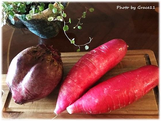 赤い野菜☆ビーツ&赤大根