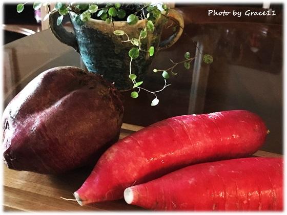 栄養豊富な根菜☆ビーツと赤大根