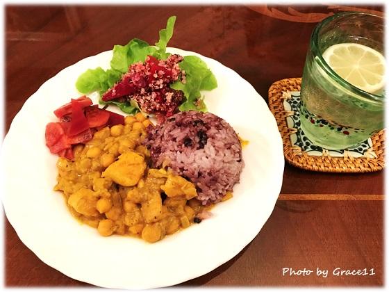 Simply Organic の Herbs & Spices で作ったひよこ豆のカレー♪
