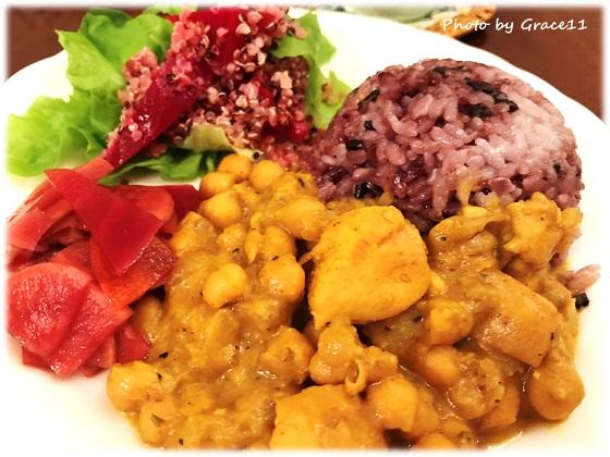 Simply Organic Curry Powderでつくるひよこ豆のカレー