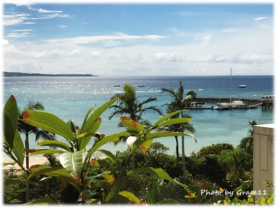 ザ・ブセナテラスの客室からの眺め in  沖縄