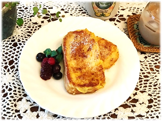 グルテンフリー☆米粉のパンのフレンチトースト♪