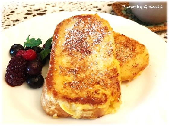 米粉パンのフレンチトースト☆グルテンフリー