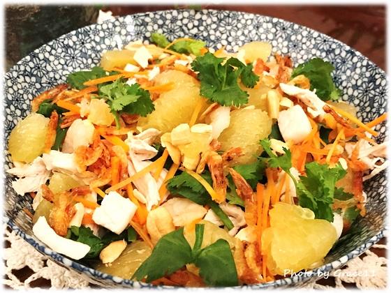 ベトナム風ポメロと干しエビのエスニックサラダ