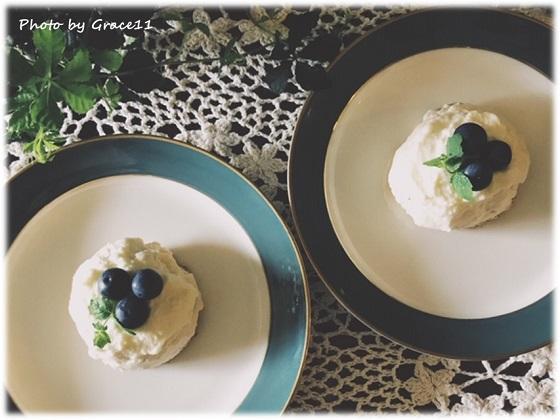 パッションフルーツのレアチーズケーキ☆グルテンフリー