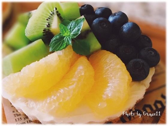 フレッシュフルーツのマスカルポーネタルト