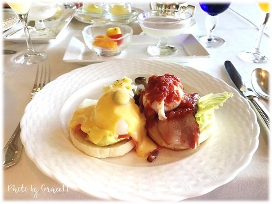 沖縄のホテルの朝食☆エッグベネディクト