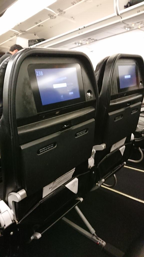 スターフライヤー SFJ32便 座席 シート 液晶モニター ANA 全日空 NH3832便 福岡 セントレア