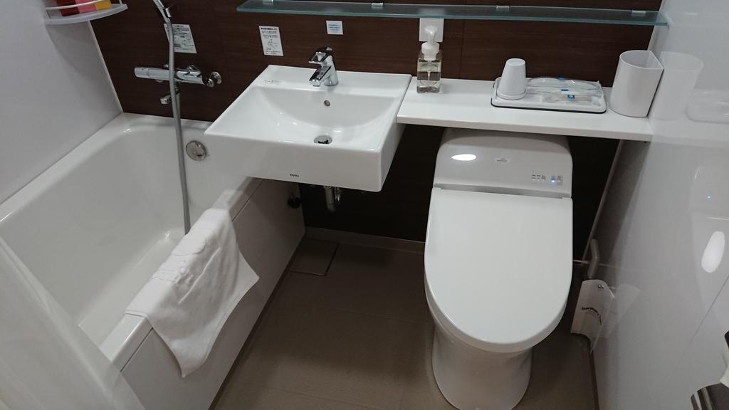 コンフォートホテル名古屋伏見 コンフォートホテル ダブルスタンダード 部屋 浴室 トイレ