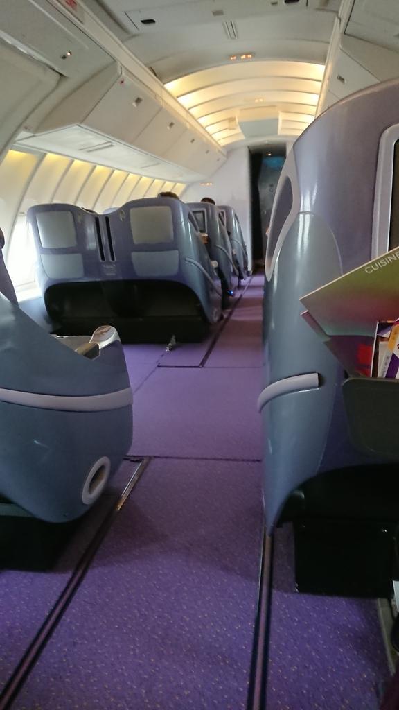 タイ国際航空 TG683便 B747 ビジネスクラス 座席 シート 機内 羽田 スワンナプーム国際空港