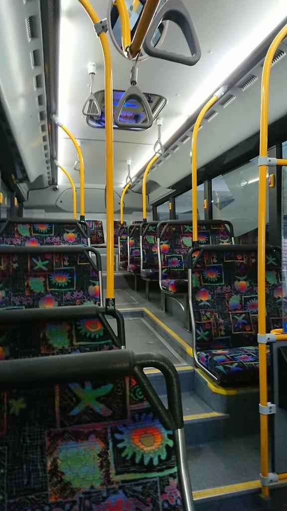 パース トランスパース 公共交通機関 交通機関 バス 車内 空港アクセス アクセス