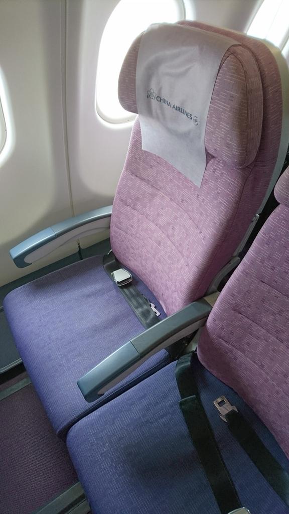 チャイナエアライン CI111便 エコノミークラス シート 座席 福岡 台北 A330-300