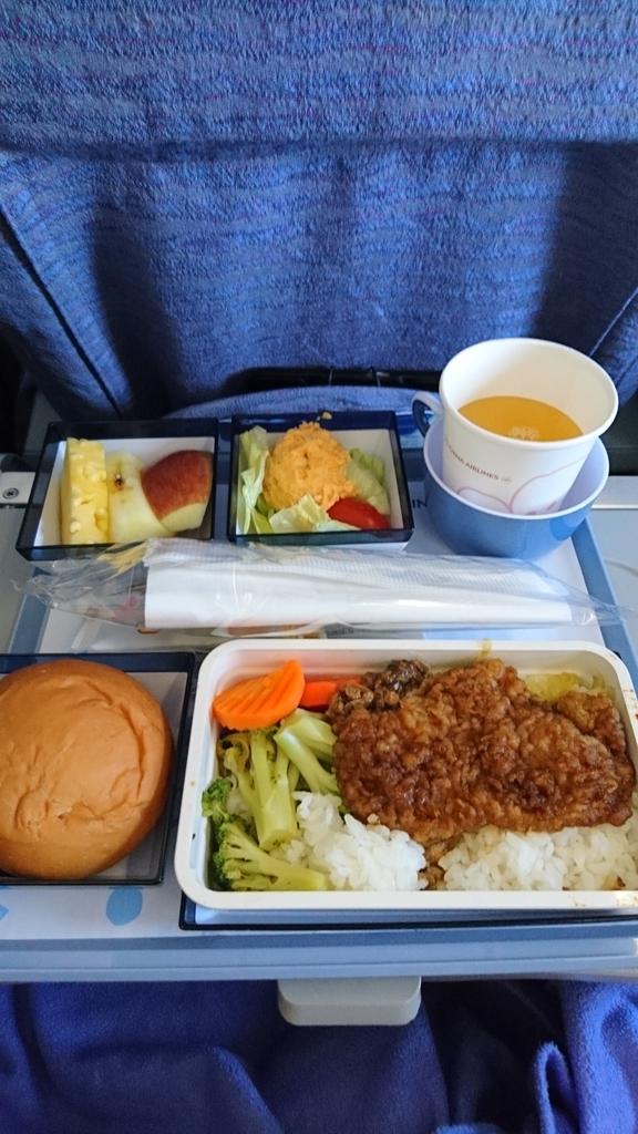 チャイナエアライン CI116便 エコノミークラス 機内食 台北 福岡