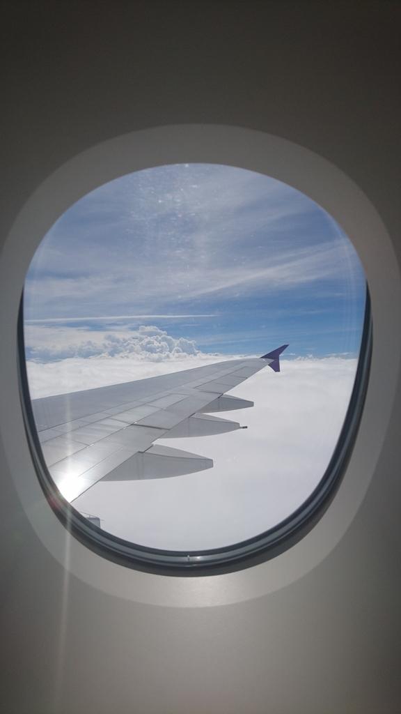 タイ国際航空 TG623便 A380 ビジネスクラス ロイヤルシルククラス 関西国際空港 バンコク 機内 景色