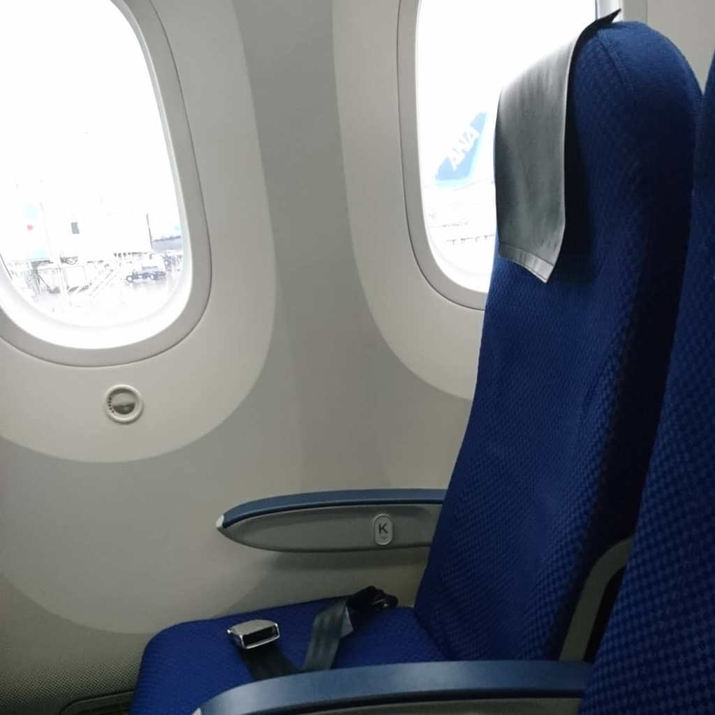 ANA 全日空 B787 国内線 NH267 福岡 羽田 座席 シート