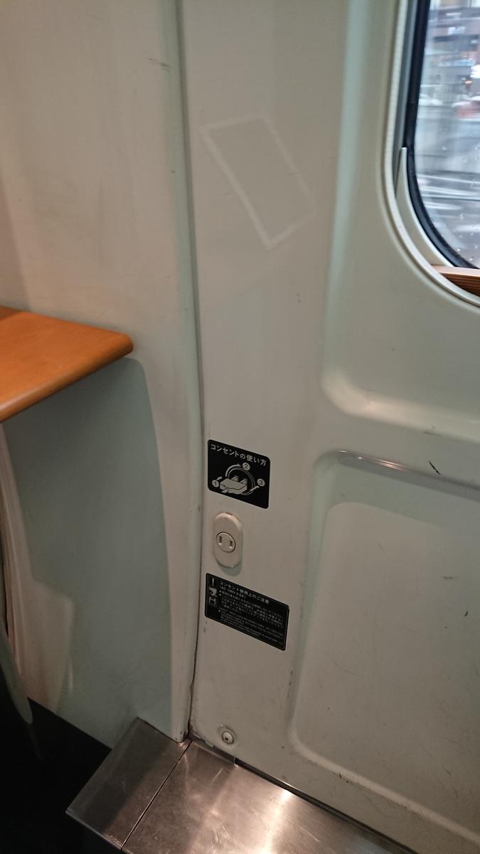 特急ソニック ソニック11号 ソニック883 JR九州 特急電車 グリーン車 コンセント