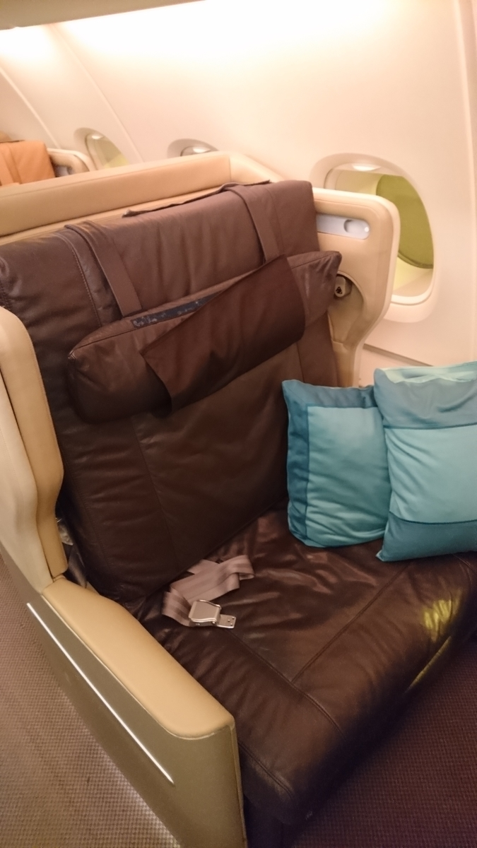 シンガポール航空 ビジネスクラス A380-800 SQ218便