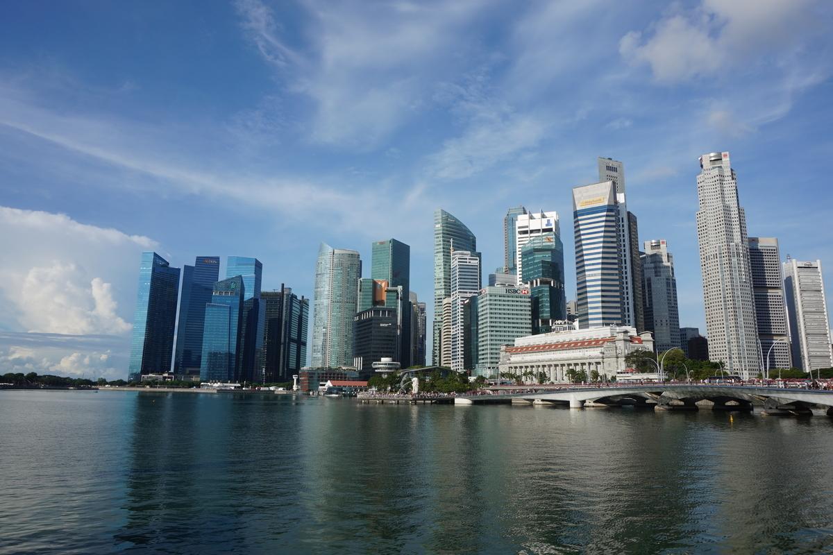 シンガポール 景色 マーライオン Esplanade Outdoor Theatre