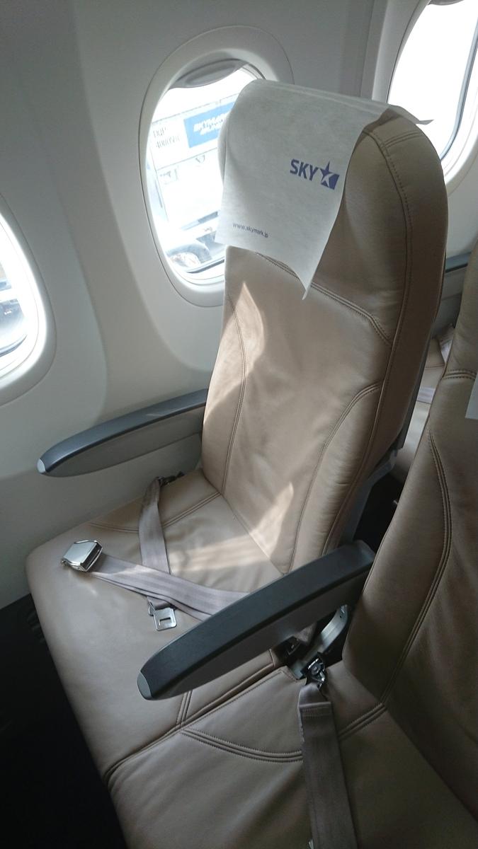 スカイマーク SKY501便 B737-800 シート