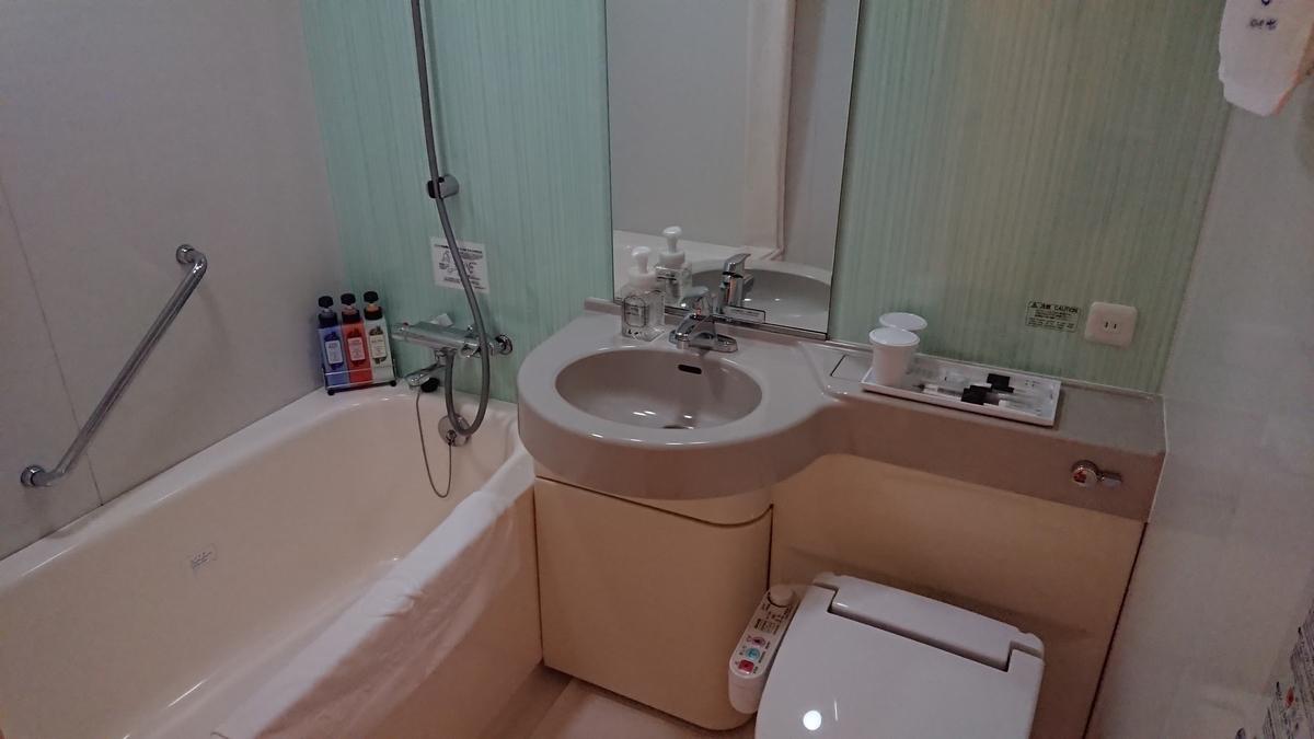 ダイワロイネットホテル那覇国際通り スタンダードダブル 浴室