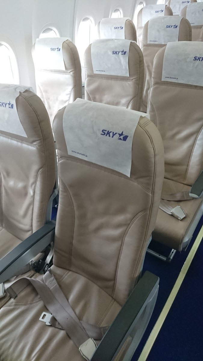 スカイマーク BC504便 B737-800 座席 シート