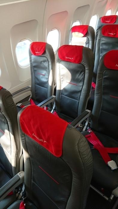 オーストリア航空 OS301便 ビジネスクラス