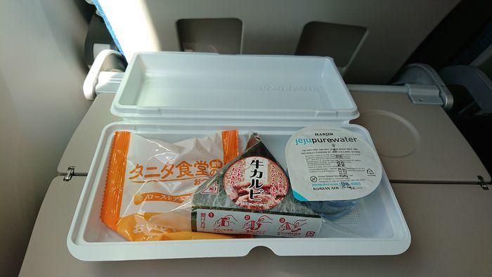 大韓航空 KE788便 エコノミークラス 機内食