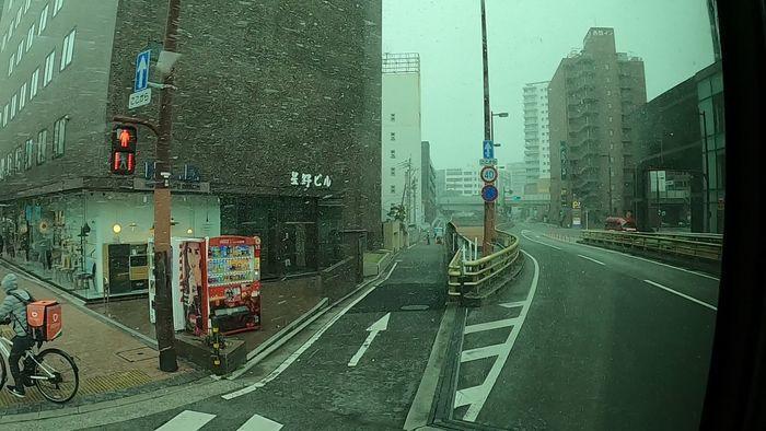 九州産交バス ひのくに号 車窓