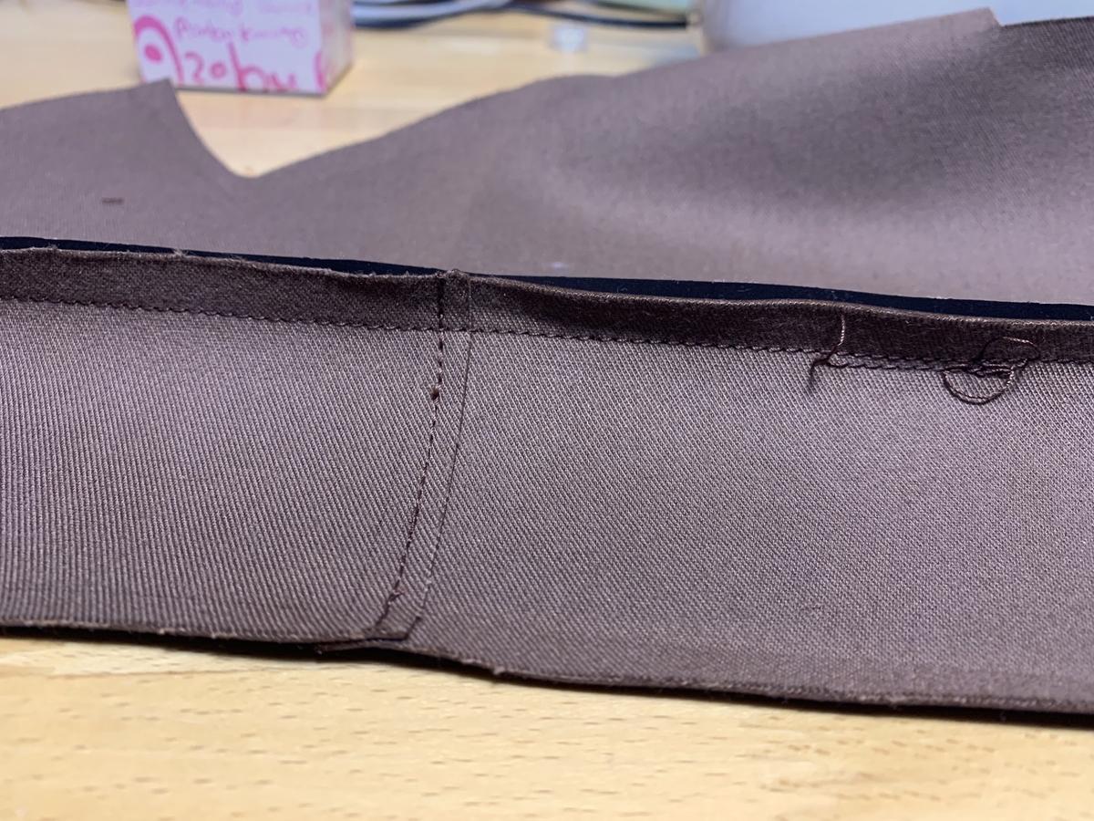 底布縫い付け