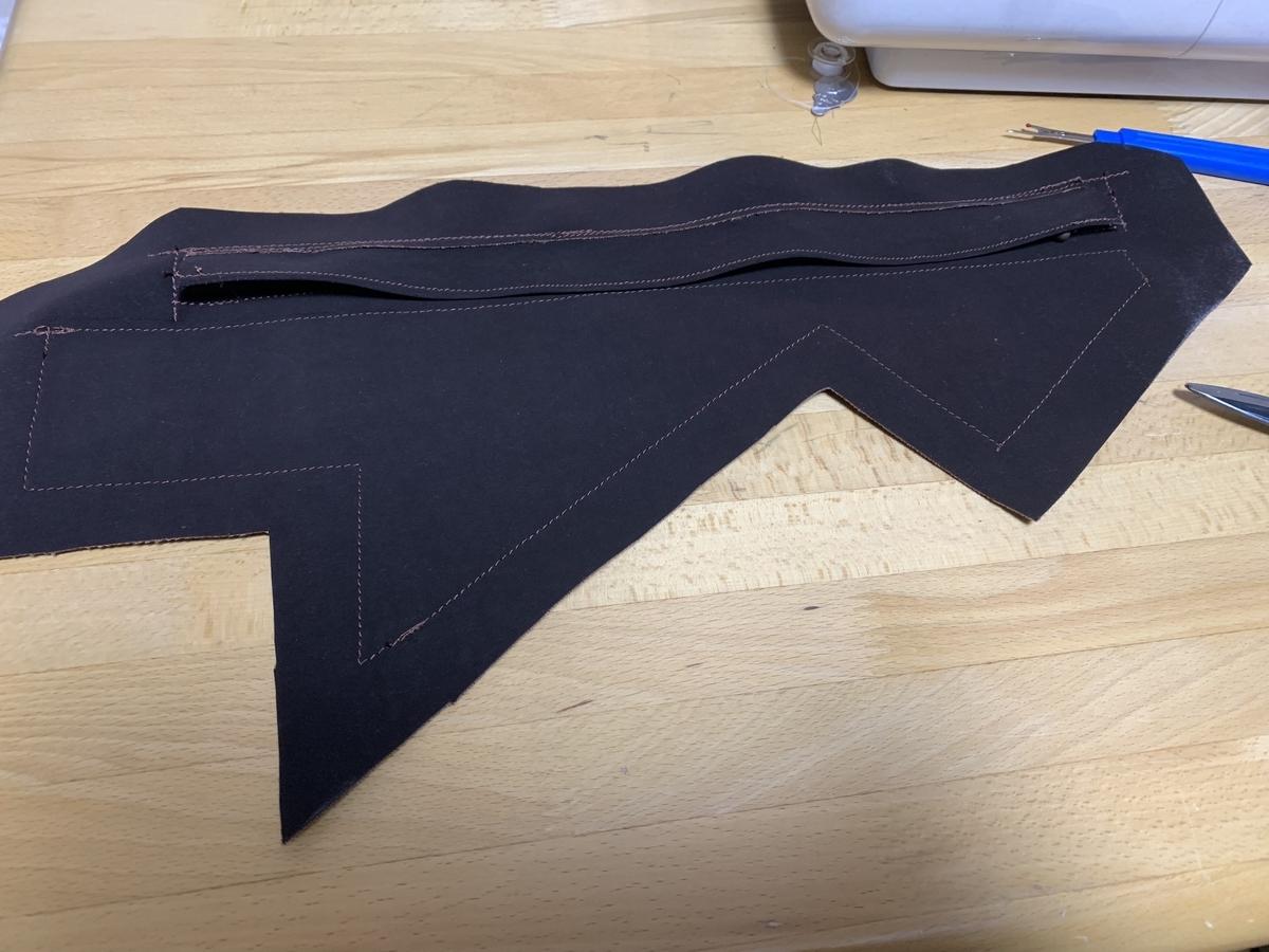 ミシン縫いされたマット