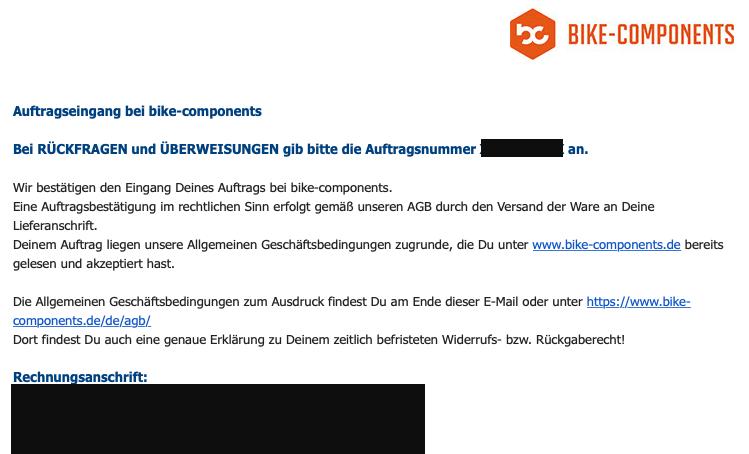 bike-componentsドイツ語