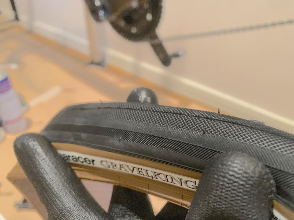 グラベルキング タイヤ交換 チューブレス