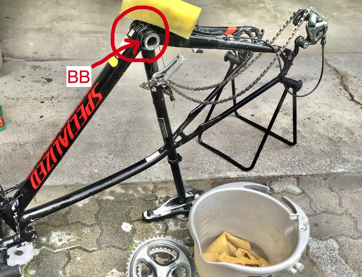 BB 場所 ロードバイク