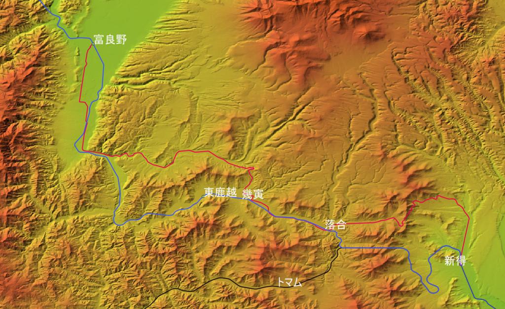 根室線富良野-新得バス区間と石勝線