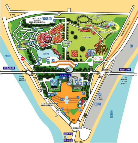 木曽三川公園マップ