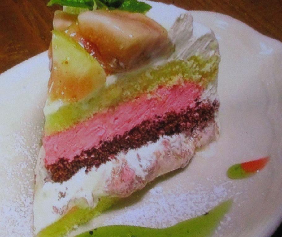 ファーマーズカフェのいちじくのショートケーキ