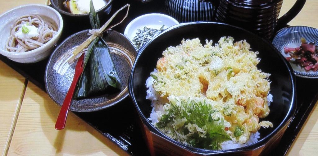 天ぷらやじまのかき揚げまぶし