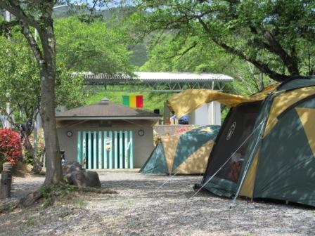 大津谷公園でキャンプ・バーベキュー