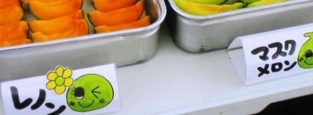 蒲郡オレンジパークのメロン食べ放題