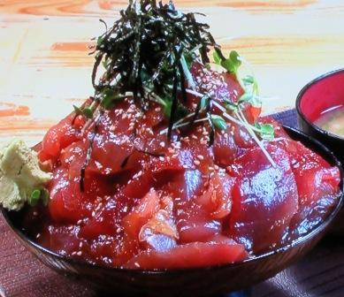 那智勝浦町のバカ盛りマグロ丼