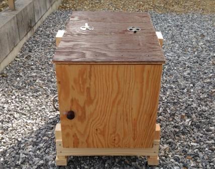 ベニヤ板で木製燻製器を自作
